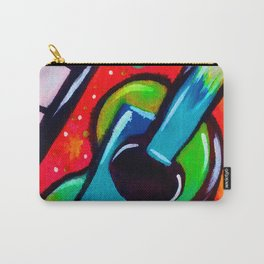 Blue Funky Guitar Carry-All Pouch