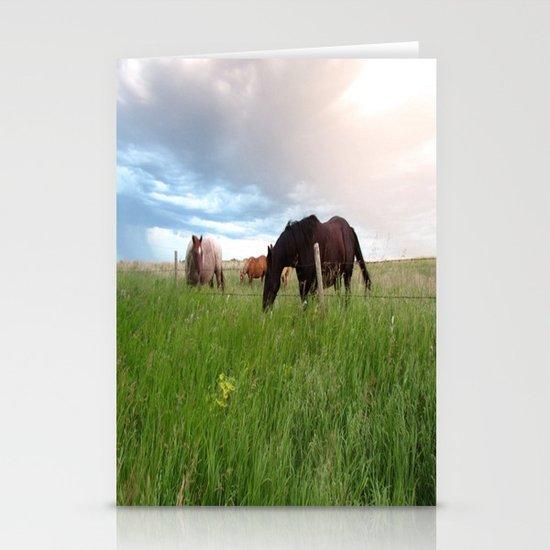 horses Stationery Cards