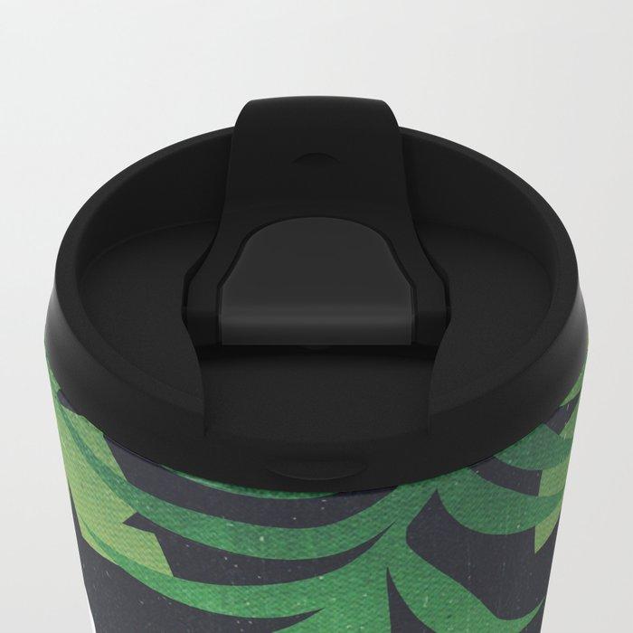 Meh Jungle Print Metal Travel Mug