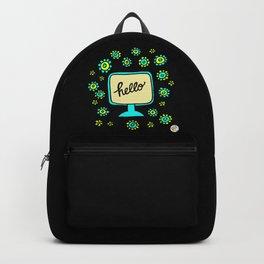 hello vintage flower power Backpack