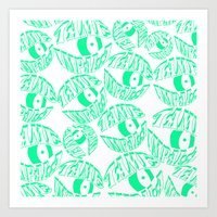 tame impala Art Prints featuring TAME IMPALA EYES by Queen Lizard