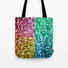 RGBY Triangle Grunge Tote Bag