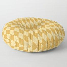 Abstract geometric ivory mustard yellow diamond autumn pattern Floor Pillow