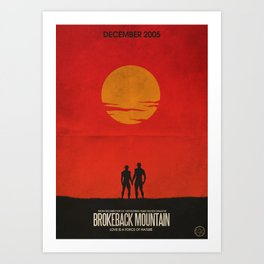 Brokeback Mountain Film Poster Art Print