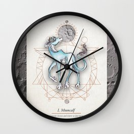 Mooncalf Wall Clock