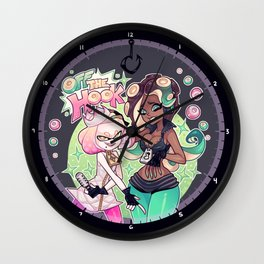 Pearl and Marina are Off the Hook Wall Clock