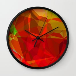 Mixed color Poinsettias 1 Abstract Polygons 3 Wall Clock