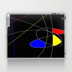 Primary Introduction - Abstract, red, blue, yellow, black, white artwork Laptop & iPad Skin