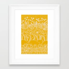 Sunshine Lemonade Garden Framed Art Print