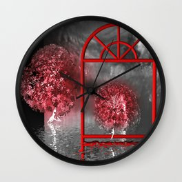 just a lost place Wall Clock