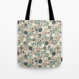 Flourishing Florals (Light-Green) Tote Bag