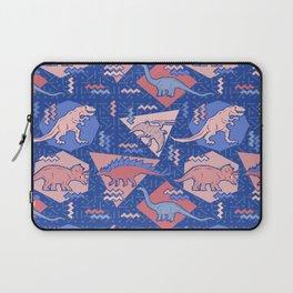 Nineties Dinosaurs Pattern  - Rose Quartz and Serenity version Laptop Sleeve