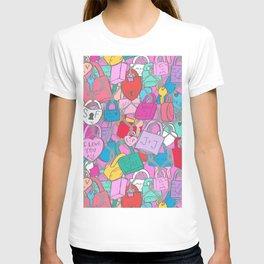 Love Locks Fence in Bright Multi T-shirt