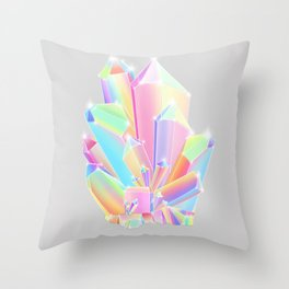 Crystal Cluster Throw Pillow