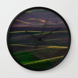 The Palouse Hills at Sunset Wall Clock