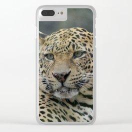 Leopard_20171001_by_JAMFoto Clear iPhone Case