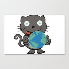 World domination cat Canvas Print