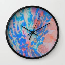 Blue Petal Surge Wall Clock
