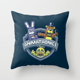 Animatronic Maniacs Throw Pillow