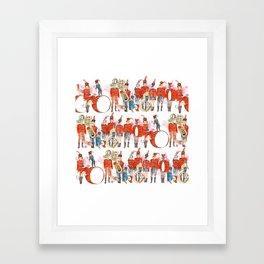 Marching Band Framed Art Print