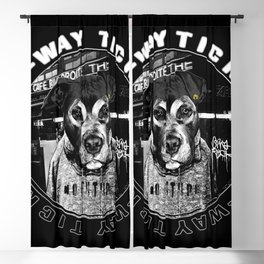 Punk Dog's Life (one-way ticket) Blackout Curtain