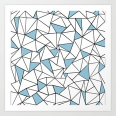 Ab Out Blue Blocks Art Print