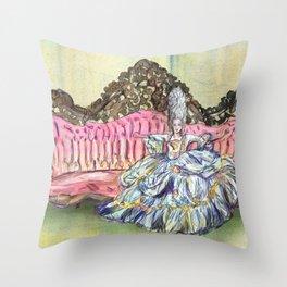 Rococo Woman  Throw Pillow