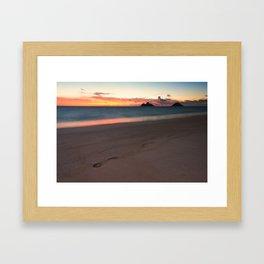 Lanikai Sunrise Framed Art Print