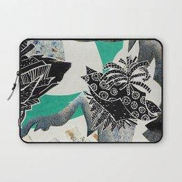 Blue Botanical Laptop Sleeve