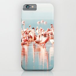 Pink Flamingo, Tropical Art Print By Synplus iPhone Case