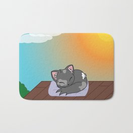 Cat on a roof Bath Mat