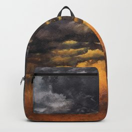 Watercolor Sky No 6 - dramatic storm clouds Backpack