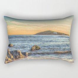 Sunset over Burgh Island from Bantham Rectangular Pillow
