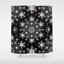Snowflake Lace Shower Curtain