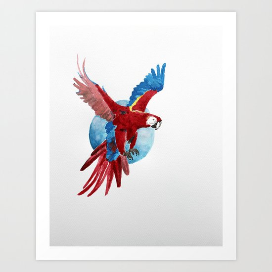 Ara Macaw Art Print