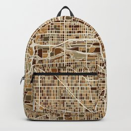 Milwaukee Wisconsin City Map Backpack