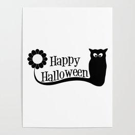 Happy Holloween Owl Poster