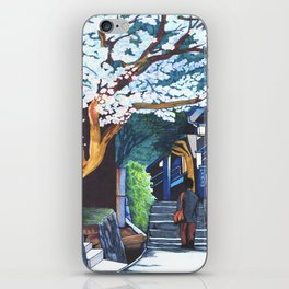 Under the Cherry Blossoms, Spring iPhone Skin