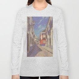 Portugal, a narrow street in Tavira Long Sleeve T-shirt
