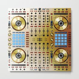 DDJ-SX-N In Limited Edition Gold Colorway Metal Print