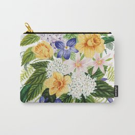 Daffodil and Violets Carry-All Pouch