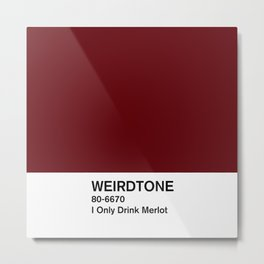 I Only Drink Merlot Metal Print