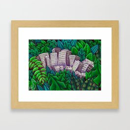 Jungle city Framed Art Print