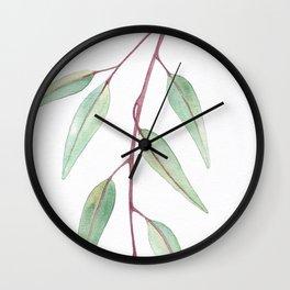 Eucalyptus Leaves Two Wall Clock
