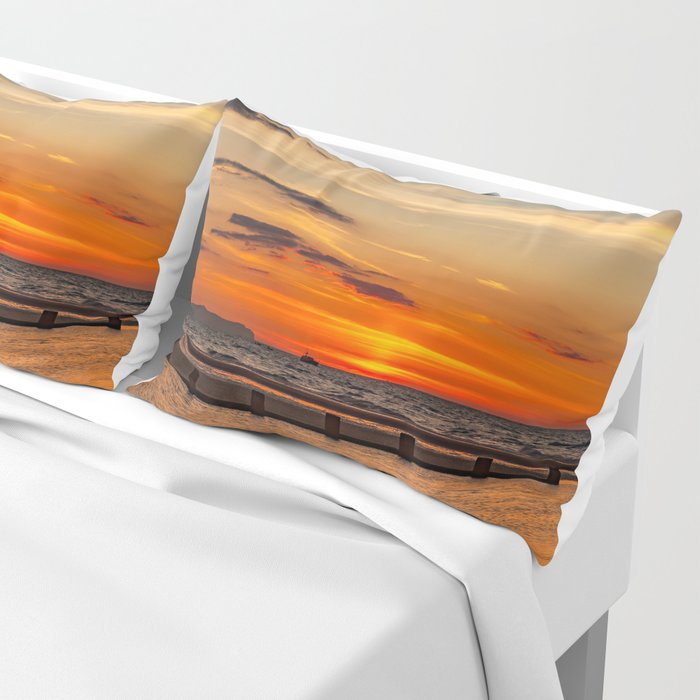 Sunset Seascape Pillow Sham