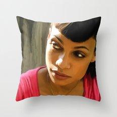 Rosario Dawson @ Death Proof Throw Pillow