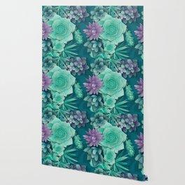Succulent Love I Wallpaper