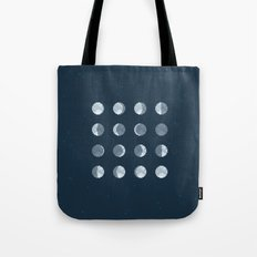 8bit Moon Phases Tote Bag