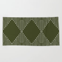 Geo (Olive Green) Beach Towel