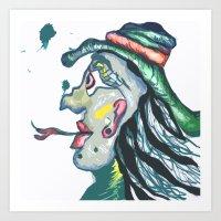 Cowboy tee tung Art Print